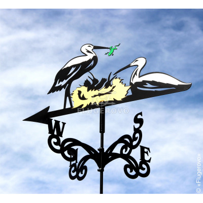 Купить флюгер на крышу Аисты, цена от 1900 руб. доставка в ваш город, сравнение, фото, отзывы.