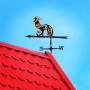 Купить флюгер на крышу Петух, цена от 1500 руб. доставка в ваш город, сравнение, фото, отзывы.